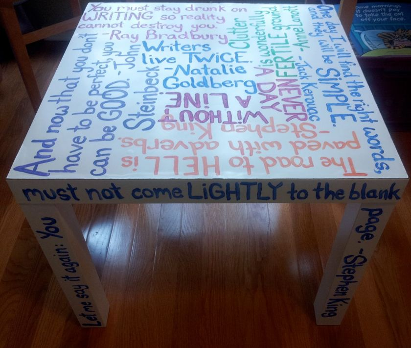 My Writing Quotes Table