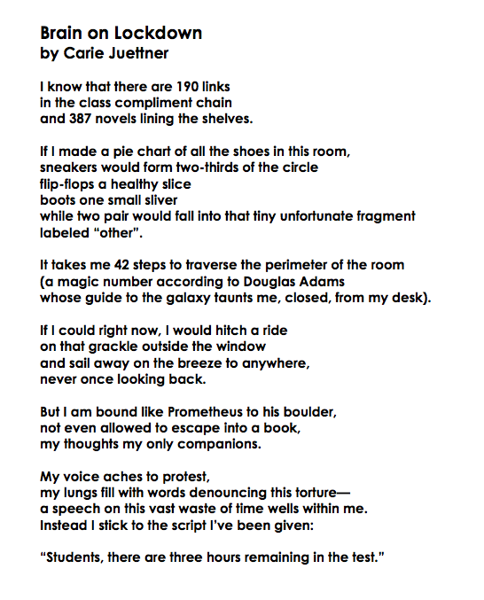 Brain on Lockdown Poem