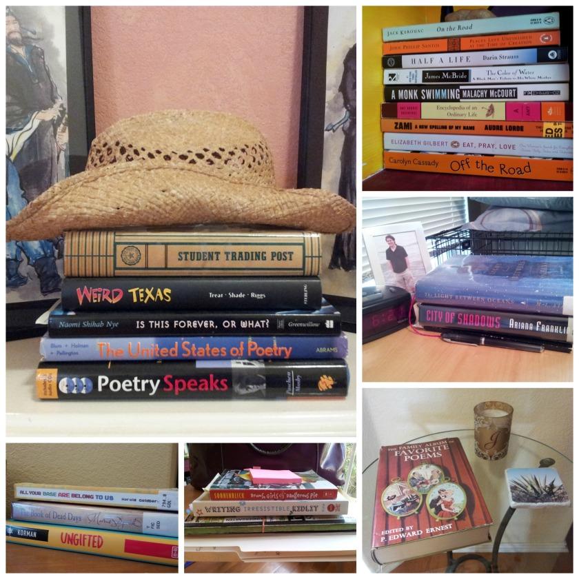 Stacks of books around my house