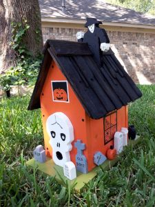 The haunted birdhouse my dad gave me for my birthday. He made it himself.