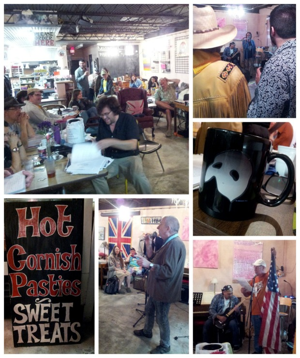 Photos from the Midnight-to-Dawn poetry reading at Full English.