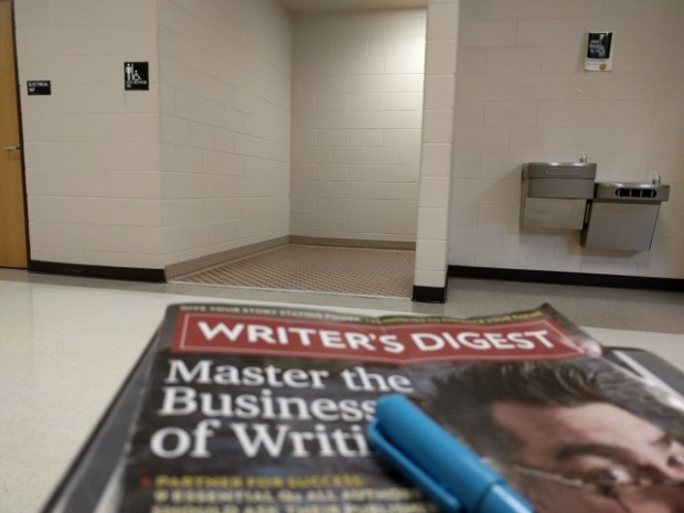 Sometimes subbing looks like this... during STAAR testing, I spent four hours monitoring the boys' bathroom (one boy at a time, no talking in line). I was able to read an entire issue of Writer's Digest during my shift. It was awesome.