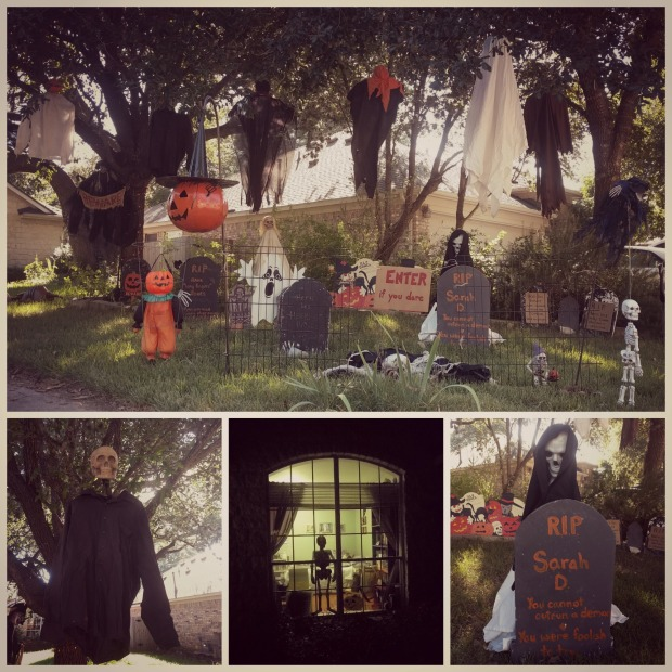 My spooky display this year.