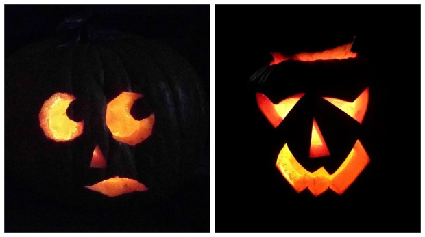 The jack-o-lanterns I carved.